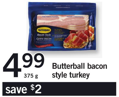 Butterball Bacon Style Turkey - 375 g