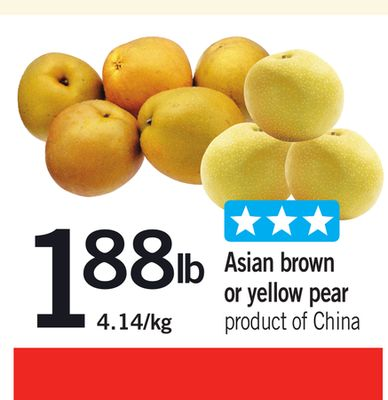 Asian Brown Or Yellow Pear
