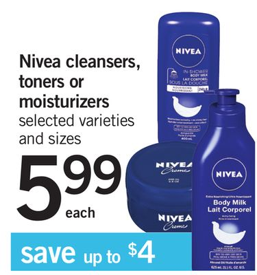 Nivea Cleansers - Toners Or Moisturizers