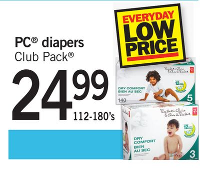 PC Diapers Club Pack - 112-180's