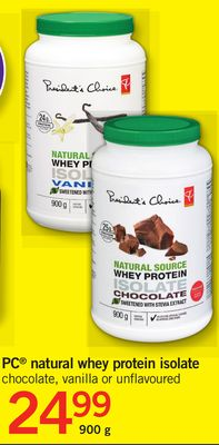 PC Natural Whey Protein Isolate - 900 g