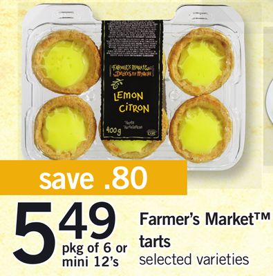 Farmer's Market Tarts - Pkg Of 6 or Mini 12's