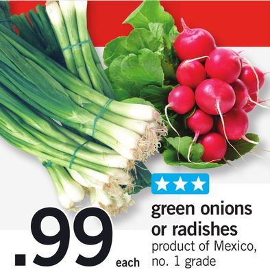 Green Onions Or Radishes