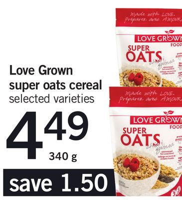 Love Grown Super Oats Cereal - 340 g