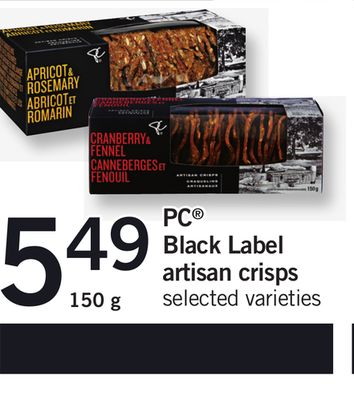 PC Black Label Artisan Crisps - 150 g