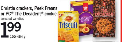 Christie Crackers - Peek Freans Or PC The Decadent Cookie - 100-454 g