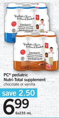 PC Pediatric Nutri-total Supplement - 6x235 mL