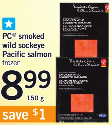 PC Smoked Wild Sockeye Pacific Salmon - 150 G