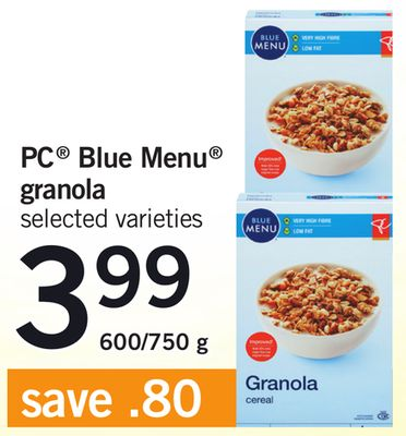 PC Blue Menu Granola