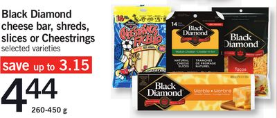 Black Diamond Cheese Bar - Shreds - Slices Or Cheestrings - 260-450 g