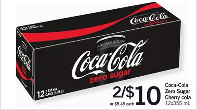 Coca-cola Zero Sugar Cherry Cola - 12x355 mL