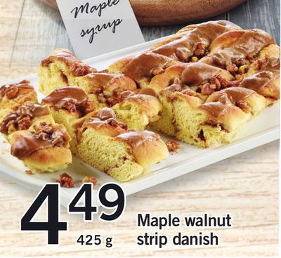 Maple Walnut Strip Danish - 425 g
