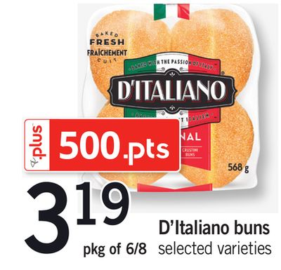 D'italiano Buns - Pkg of 6/8