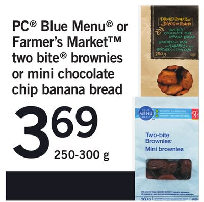 PC Blue Menu Or Farmer's Market Two Bite Brownies - 250-300 g