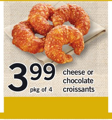Cheese Or Chocolate Croissants - Pkg of 4