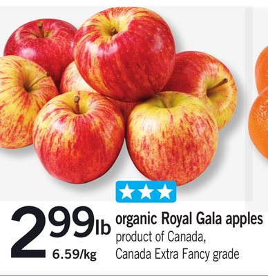 Organic Royal Gala Apples