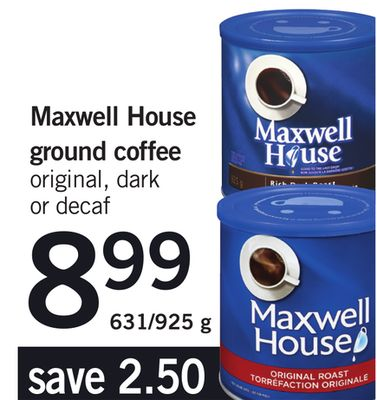 Maxwell House Ground Coffee - 631/925 g