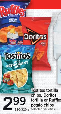 Tostitos Tortilla Chips - Doritos Tortilla Or Ruffles Potato Chips - 200-320 g