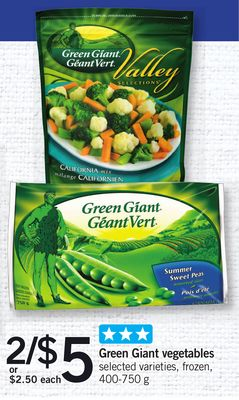 Green Giant Vegetables - 400-750 g