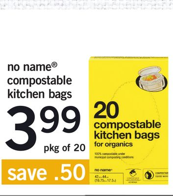 No Name Compostable Kitchen Bags - Pkg of 20