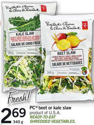 PC Beet Or Kale Slaw - 340 g