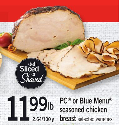 PC Or Blue Menu Seasoned Chicken Breast - 2.64/100 g