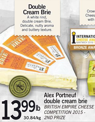 Alex Portneuf Double Cream Brie