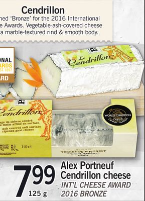 Alex Portneuf Cendrillon Cheese - 125 g