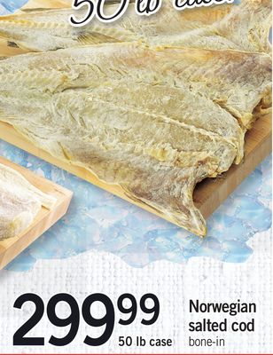 Norwegian Salted Cod - 50 Lb Case