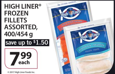High Liner Frozen Fillets - 400/454 g