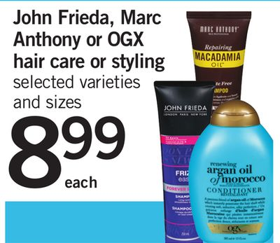 John Frieda - Marc Anthony Or Ogx Hair Care Or Styling
