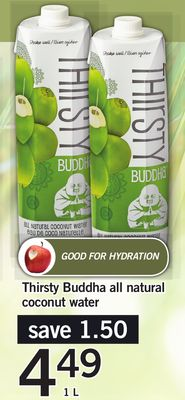 Thirsty Buddha All Natural Coconut Water - 1 L