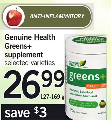 Genuine Health Greens+ Supplement - 127-169 g