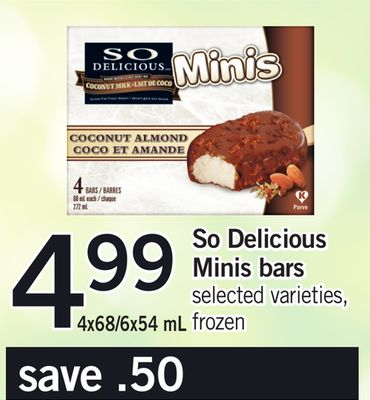 So Delicious Minis Bars 4x68/6x54 mL