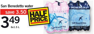 San Benedetto Water - 6x1.5 L