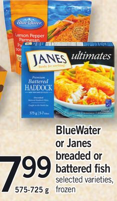 Bluewater Or Janes Breaded Or Battered Fish - 575-725 g