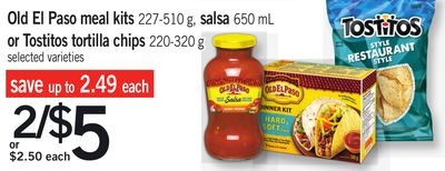 Old El Paso Meal Kits 227-510 G - Salsa 650 Ml Or Tostitos Tortilla Chips 220-320 G