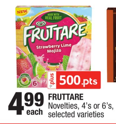Fruttare Novelties - 4's or 6's