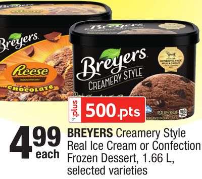 Breyers Creamery Style Real Ice Cream Or Confection Frozen Dessert - 1.66 L