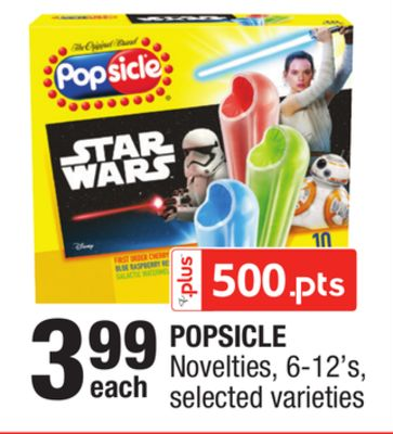 Popsicle Novelties - 6-12's