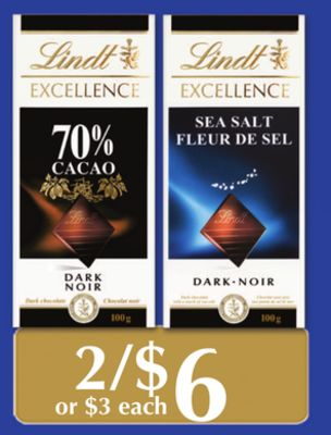 Lindt Excellence Assorted Chocolate Products