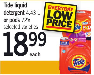 Tide Liquid Detergent 4.43 L Or PODS 72's