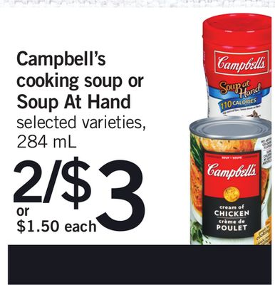 Campbell's Cooking Soup Or Soup At Hand - 284 mL