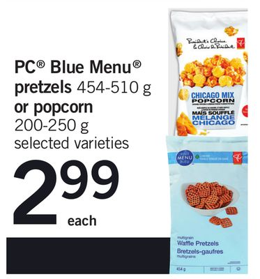 PC Blue Menu Pretzels 454-510 G Or Popcorn 200-250 G