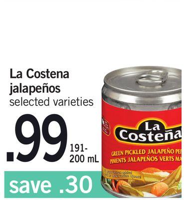 La Costena Jalapeños - 191- 200 mL
