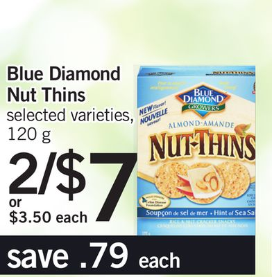 Blue Diamond Nut Thins - 120 g