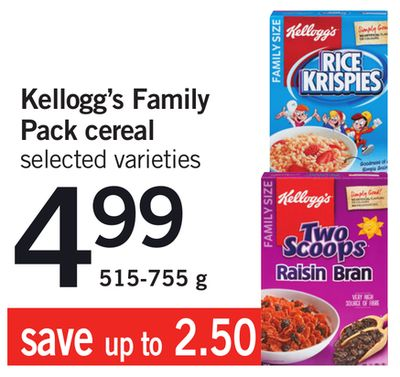 Kellogg's Family Pack Cereal - 515-755 g