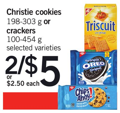 Christie Cookies - 198-303 g Or Crackers - 100-454 g