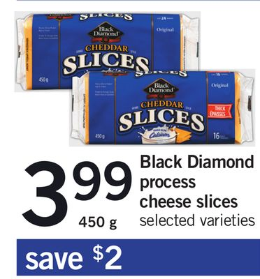 Black Diamond Process Cheese Slices - 450 g