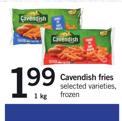 Cavendish Fries - 1 Kg